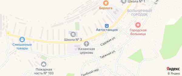 Улица Кирова на карте Сорска с номерами домов