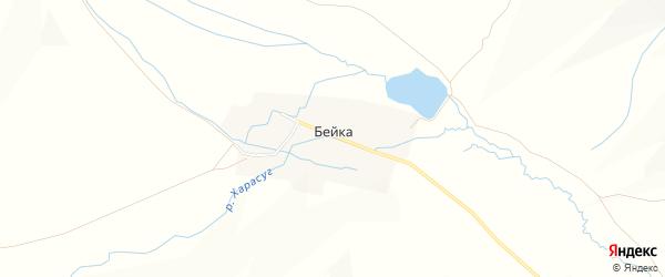 Карта аала Бейки в Хакасии с улицами и номерами домов