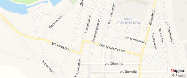 Новосельская улица на карте Назарово с номерами домов