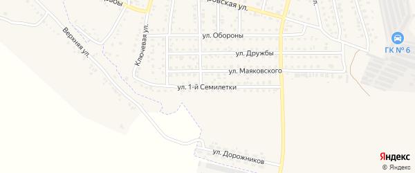 Улица 1-ой Семилетки на карте Назарово с номерами домов