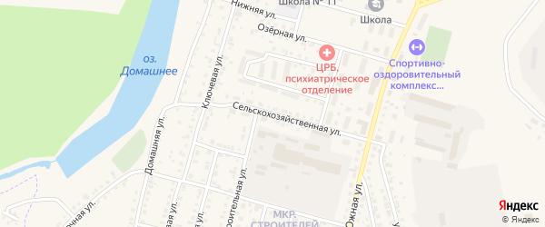 Сельскохозяйственная улица на карте Назарово с номерами домов