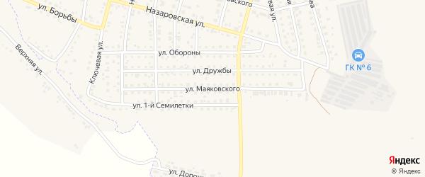 Улица Маяковского на карте Назарово с номерами домов