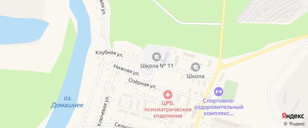 Клубная улица на карте Назарово с номерами домов