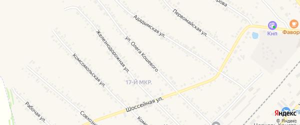 Улица О.Кошевого на карте Назарово с номерами домов