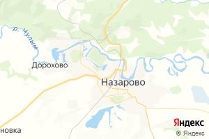 Карта г. Назарово Красноярский край