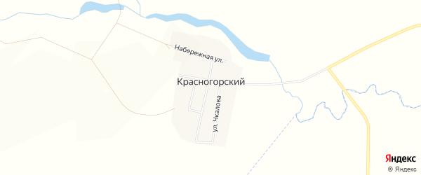 Карта Красногорского поселка в Красноярском крае с улицами и номерами домов