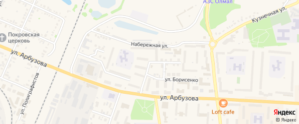 Пекарская улица на карте Назарово с номерами домов