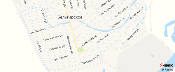 Карта Бельтирского села в Хакасии с улицами и номерами домов