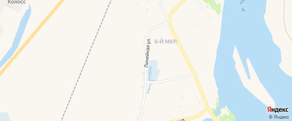 Линейная улица на карте Назарово с номерами домов