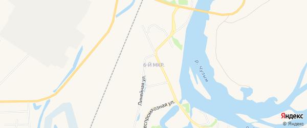 6-й микрорайон на карте Назарово с номерами домов