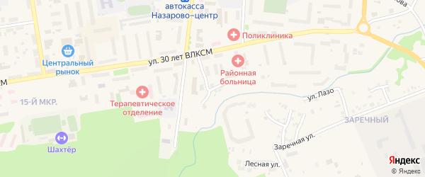 Овражная улица на карте Назарово с номерами домов