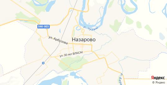 Карта Назарово с улицами и домами подробная. Показать со спутника номера домов онлайн