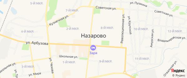 СНТ со Всероссийского общества инвалидов на карте Назарово с номерами домов