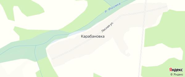 Карта деревни Карабановки в Красноярском крае с улицами и номерами домов
