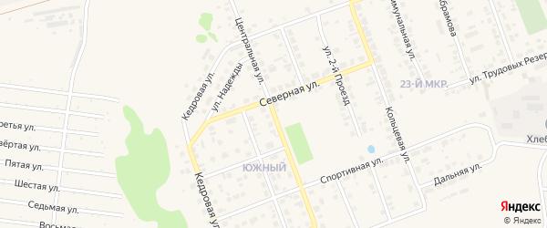 Центральная улица на карте Назарово с номерами домов