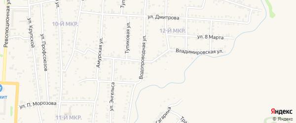 Владимировская улица на карте Назарово с номерами домов