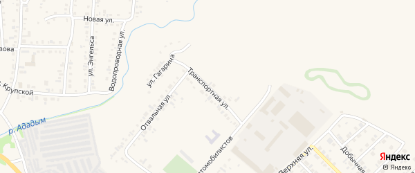 Транспортная улица на карте Назарово с номерами домов