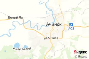 Карта г. Ачинск Красноярский край