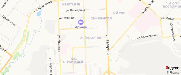 25-й квартал на карте Ачинска с номерами домов