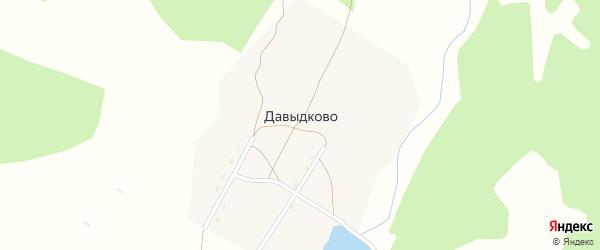 Горная улица на карте деревни Давыдково Хакасии с номерами домов