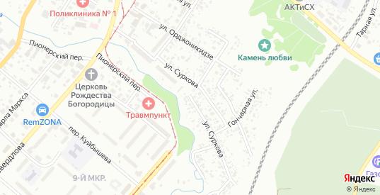 Улица Суркова в Ачинске с номерами домов на карте. Спутник и схема онлайн