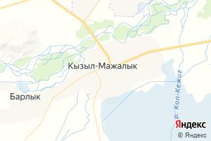 Карта с. Кызыл-Мажалык Республика Тыва