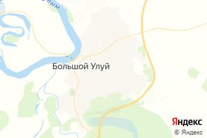 Карта с. Большой Улуй Красноярский край