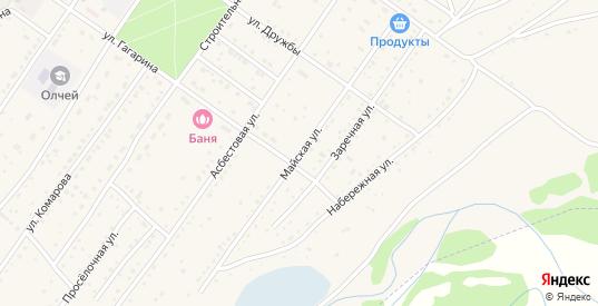 Майская улица в Ак-Довураке с номерами домов на карте. Спутник и схема онлайн