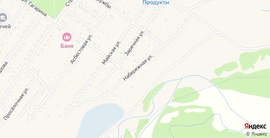 Набережная улица в Ак-Довураке с номерами домов на карте. Спутник и схема онлайн