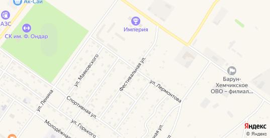 Улица Лермонтова в Ак-Довураке с номерами домов на карте. Спутник и схема онлайн