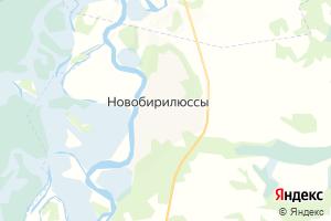 Карта с. Новобирилюссы Красноярский край