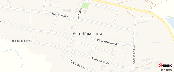Хутор Бабаны на карте села Усть-Камышта Хакасии с номерами домов