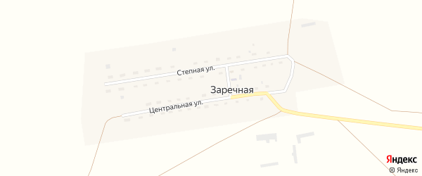 Степная улица на карте Заречной деревни Хакасии с номерами домов