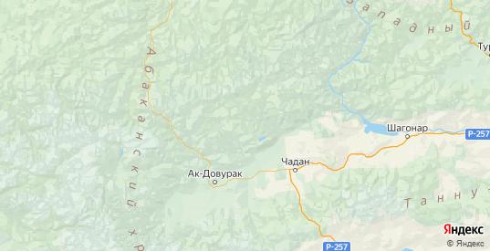 Карта Сут-хольского района республики Тыва с городами и населенными пунктами