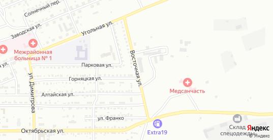 Восточная улица в Черногорске с номерами домов на карте. Спутник и схема онлайн