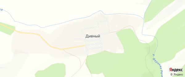 Карта Дивного поселка в Красноярском крае с улицами и номерами домов