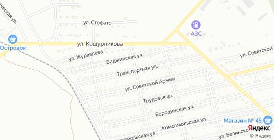 Транспортная улица в Черногорске с номерами домов на карте. Спутник и схема онлайн