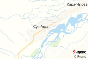 Карта с. Суг-Аксы Республика Тыва