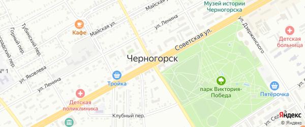 Улица Кольцова на карте Черногорска с номерами домов