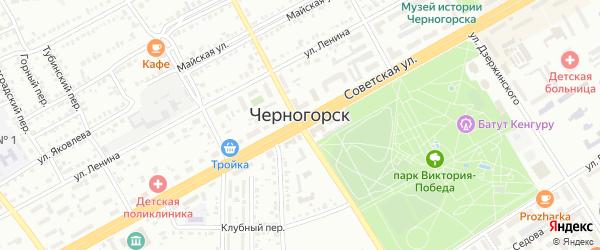 Черничная улица на карте района Урочища Куня СТ Автомобилист-2 (АК-2083) с номерами домов