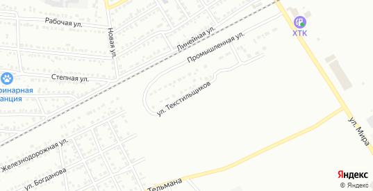 Улица Текстильщиков в Черногорске с номерами домов на карте. Спутник и схема онлайн