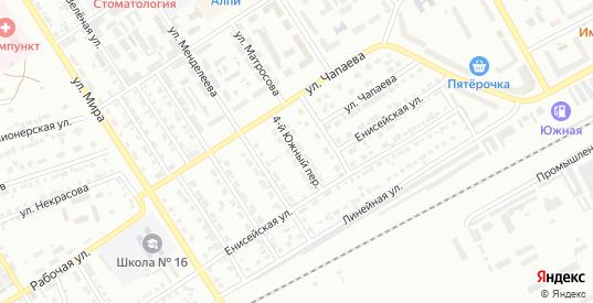 4-й Южный переулок в Черногорске с номерами домов на карте. Спутник и схема онлайн