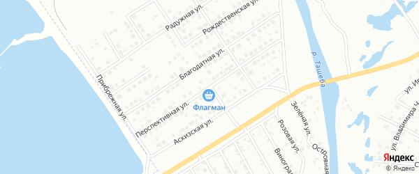 Перспективная улица на карте Абакана с номерами домов
