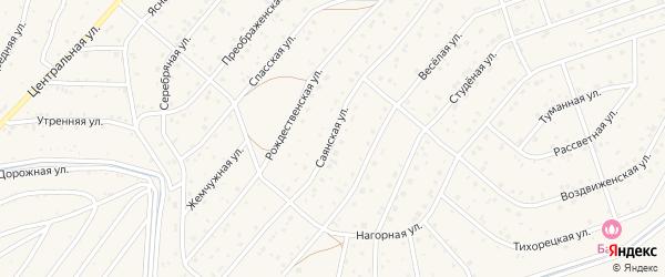 Саянская улица на карте Саяногорска с номерами домов