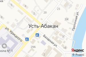 Карта пос. Усть-Абакан Республика Хакасия