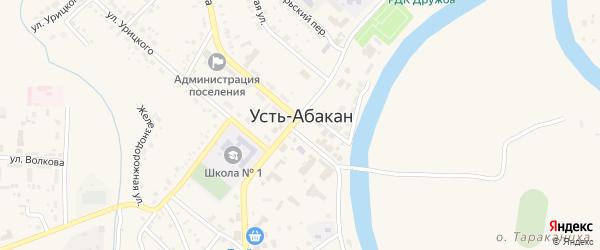Улица 4-й ряд на карте территории ГСК Рабочей 1 Хакасии с номерами домов