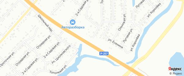 Тополевая улица на карте Абакана с номерами домов