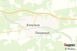 Карта пгт Козулька Красноярский край