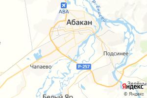 Карта г. Абакан Республика Хакасия