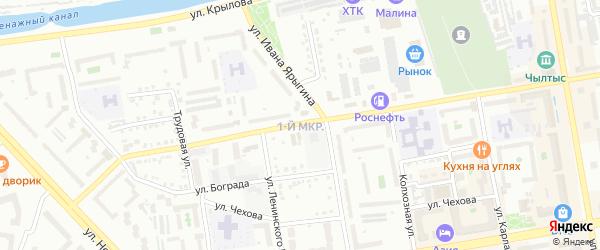 Территория Блок 10-й на карте район 1-й квартал 12-й ГСК с номерами домов